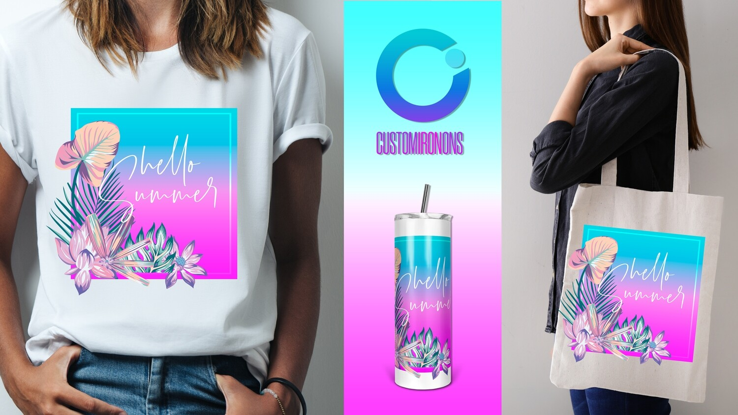 Hello Summer - 20oz Taper + PNG Sublimation
