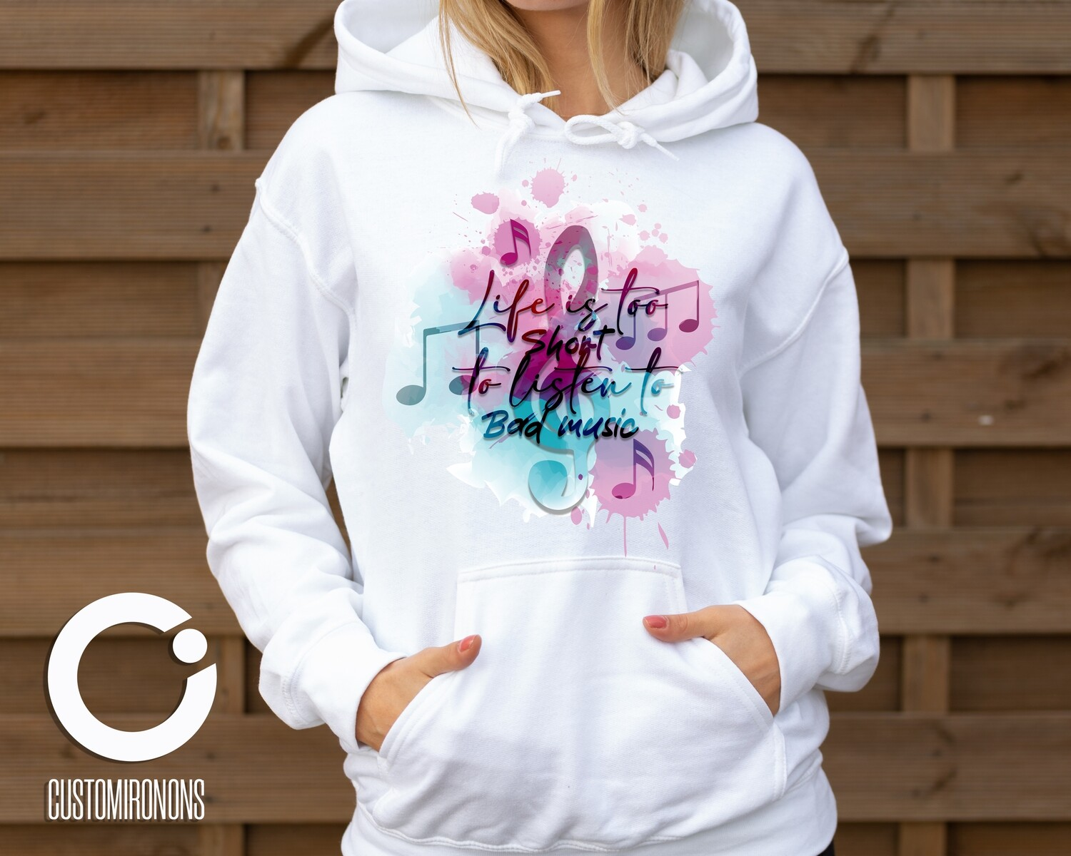 Life Is too Short to listen to Bad Music PNG - Sublimation / Waterslide