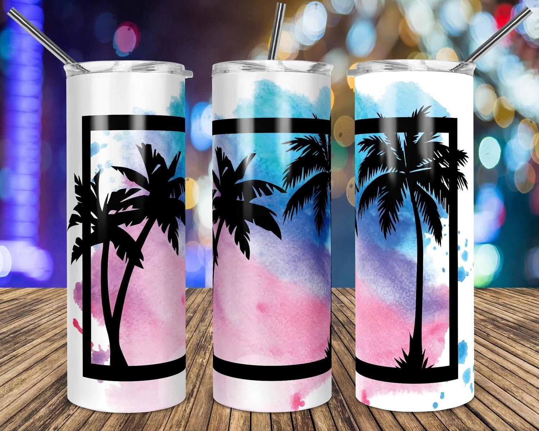Tropical Palm Trees Frame  sublimation design - Sublimation design - Sublimation - DTG printing - Sublimation design download - Summer sublimation design