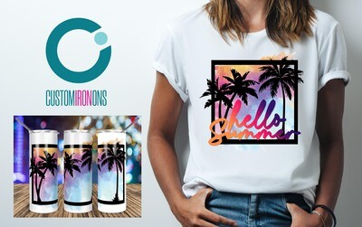 Tropical Palm Trees Frame  sublimation design - Sublimation design - Sublimation - DTG printing - Sublimation design download - Summer sublimation design