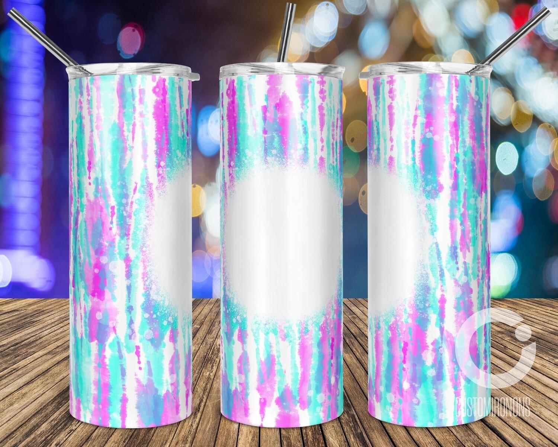 Bleach Tie Dye Bright Pink & Blue  sublimation design - Sublimation design - Sublimation - DTG printing - Sublimation design download - Summer sublimation design