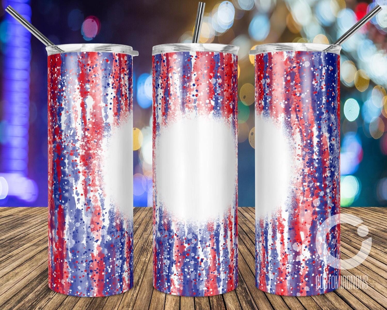 Bleach Tie Dye USA July 4th sublimation design - Sublimation design - Sublimation - DTG printing - Sublimation design download - Summer sublimation design