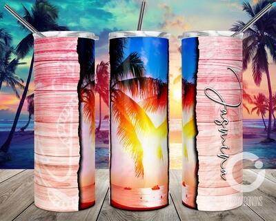 Peach Beach Ocean Vibes sublimation design - Sublimation design - Sublimation - DTG printing - Sublimation design download - Summer sublimation design