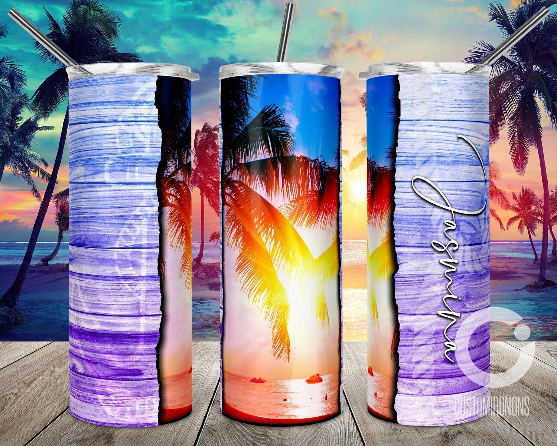 Beach Ocean Vibes Blue to Purple sublimation design - Sublimation design - Sublimation - DTG printing - Sublimation design download - Summer sublimation design