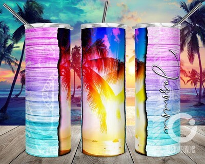 Pink to Blue Ocean Vibes sublimation design - Sublimation design - Sublimation - DTG printing - Sublimation design download - Summer sublimation design