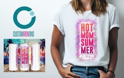 Hot Mom Summer sublimation design - Sublimation design - Sublimation - DTG printing - Sublimation design download - Summer sublimation design