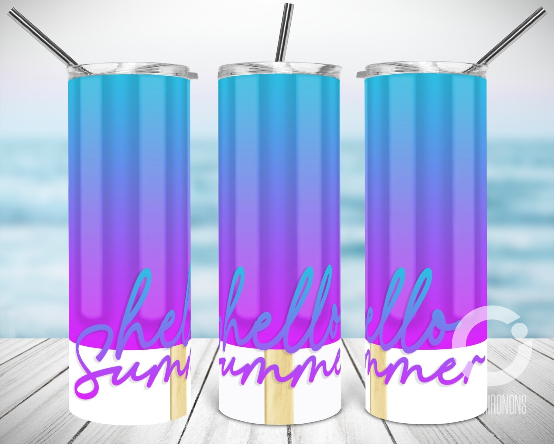 Purple Teal Popsicle - Sublimation design - Sublimation - DTG printing - Sublimation design download - Summer sublimation design