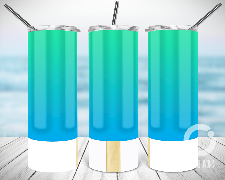 Blue Green Popsicle - Sublimation design - Sublimation - DTG printing - Sublimation design download - Summer sublimation design