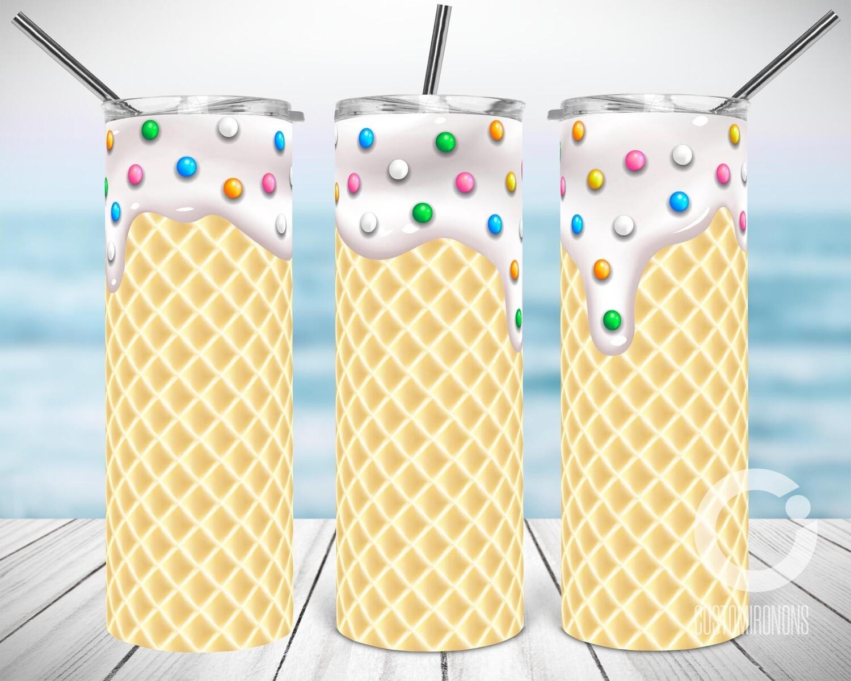 Vanilla Ice Cream Waffle - Sublimation design - Sublimation - DTG printing - Sublimation design download - Summer sublimation design
