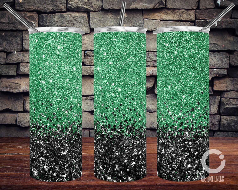 Green with Black Glitter - 20oz Tumbler Designs