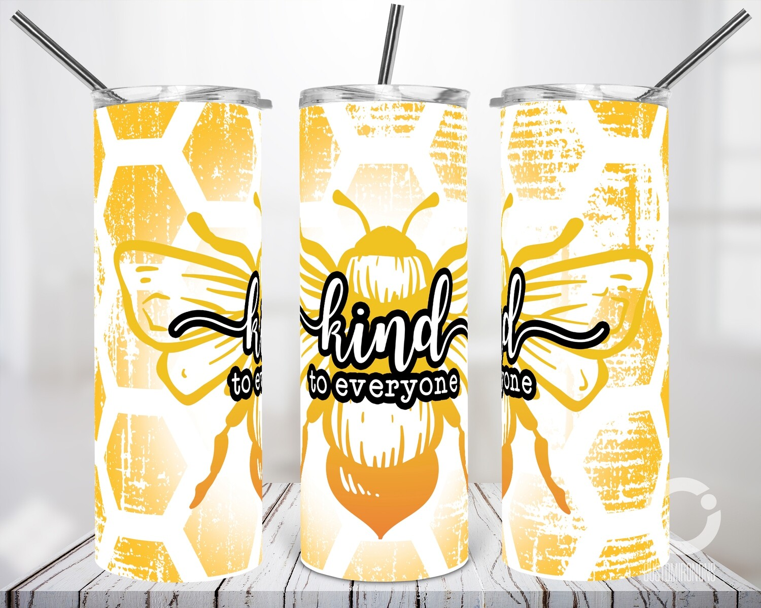 Bee Kind (Includes blank version) 20oz Tumbler