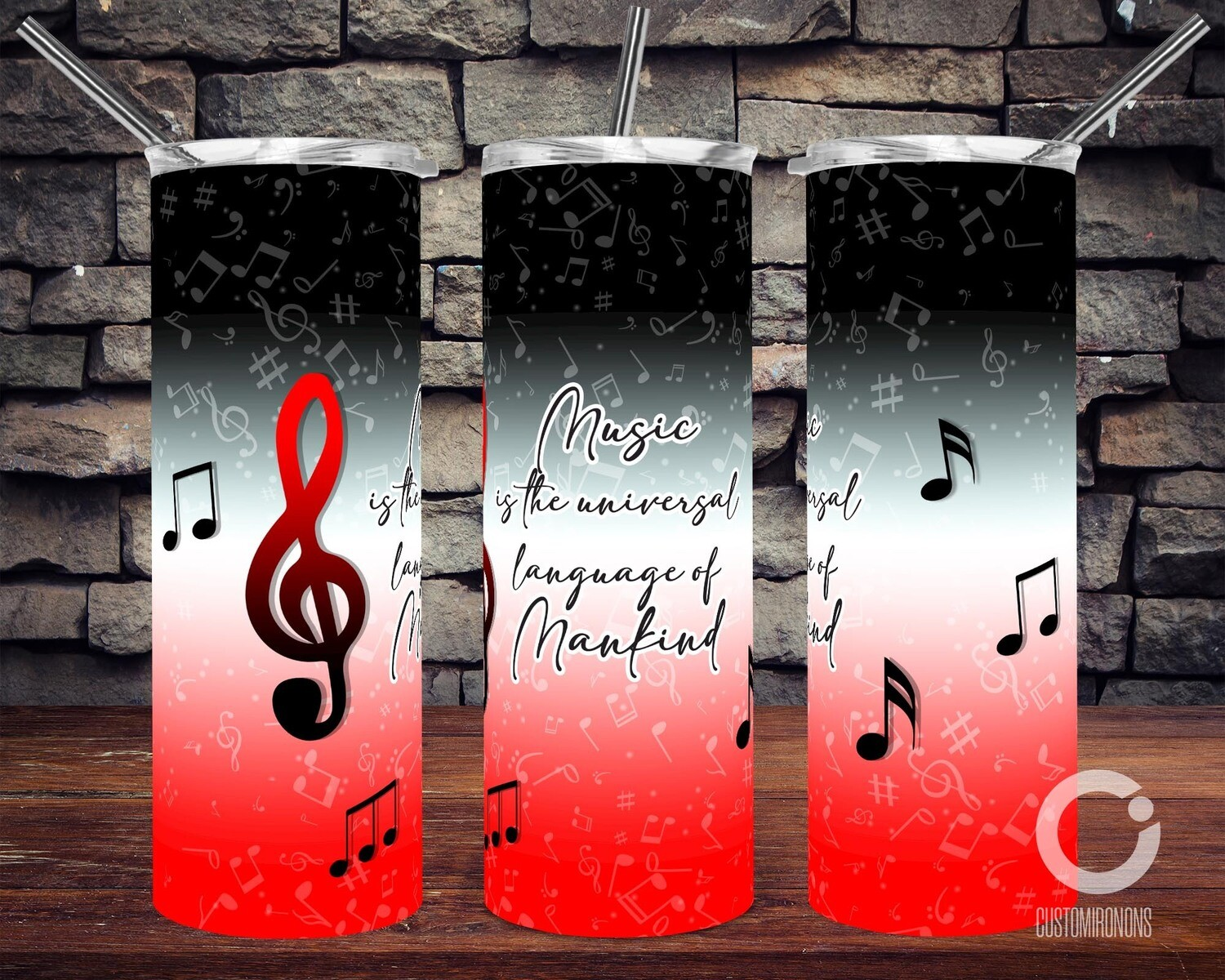 Music is the universal language of Mankind 20oz Tumbler