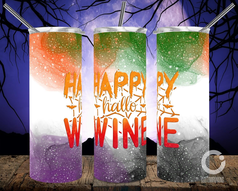 Happy Hallo Wine 20oz Tumbler
