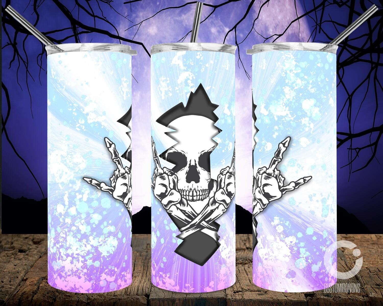 Skull Crack Purple to Blue - 20oz Tumbler