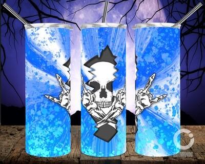Skull Crack Blue - 20oz Tumbler