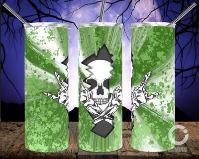 Skull Crack Dark Green - 20oz Tumbler