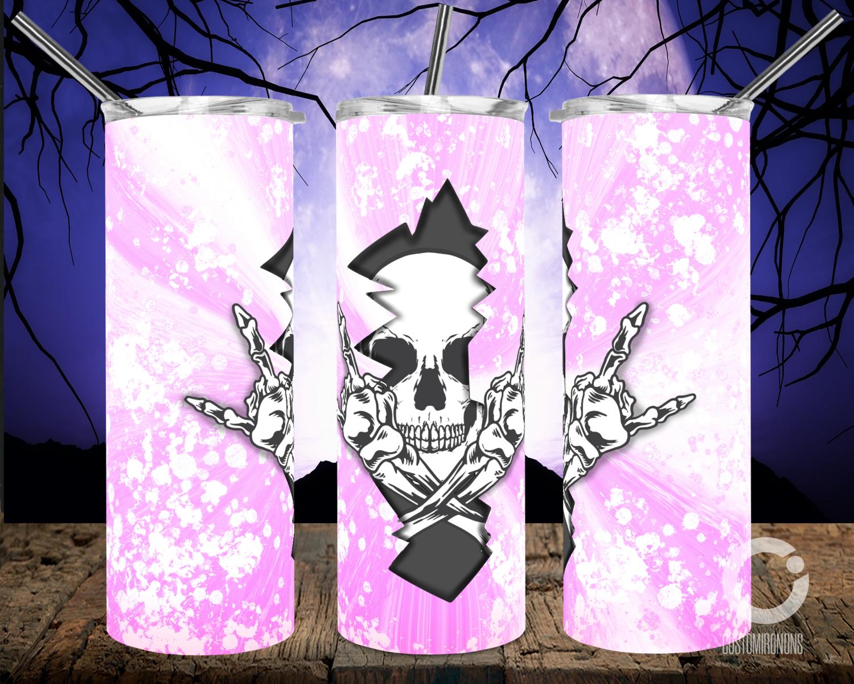 Skull Crack Light Purple- 20oz Tumbler