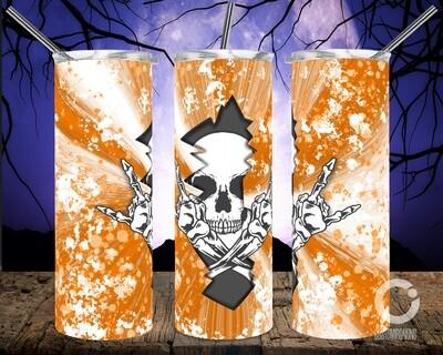 Skull Crack Orange- 20oz Tumbler
