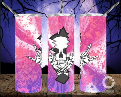 Skull Crack Pink Purple- 20oz Tumbler