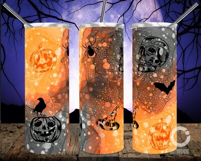 Halloween Orange Black - 20oz Tumbler
