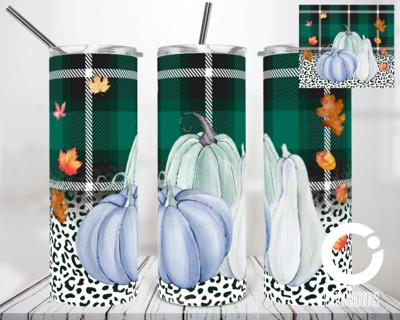 Plaid Pumpkin  - 20oz Tumbler Digital Download
