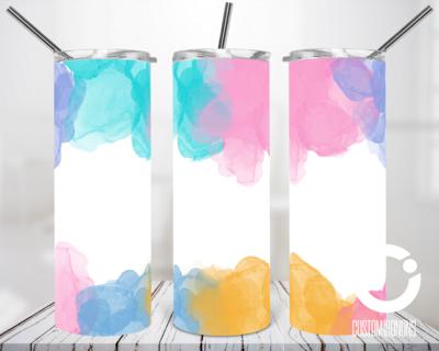 Pastel WaterColor Splash 20oz Tumbler Digital