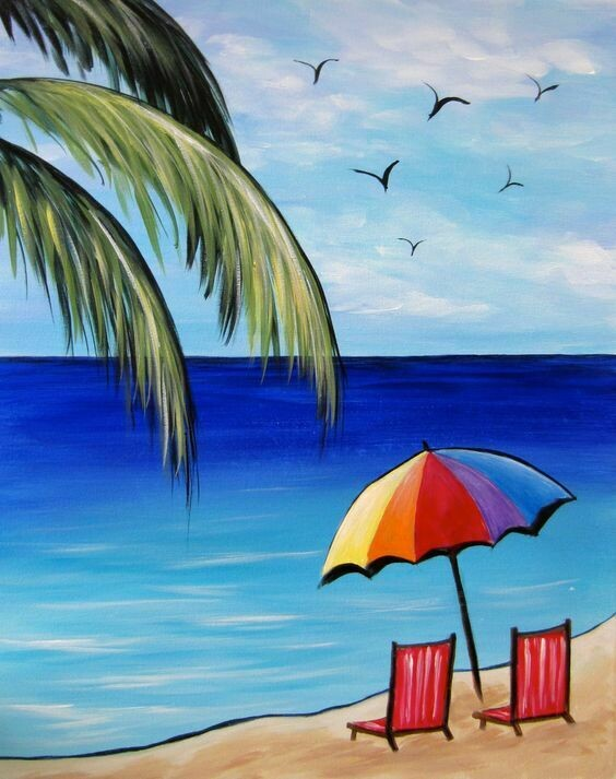 VACAY FOR TWO PAINT PARTY KIT