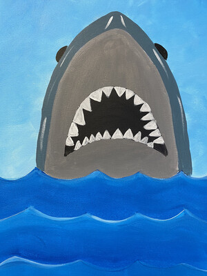 SHARK PAINT PARTY KIT
