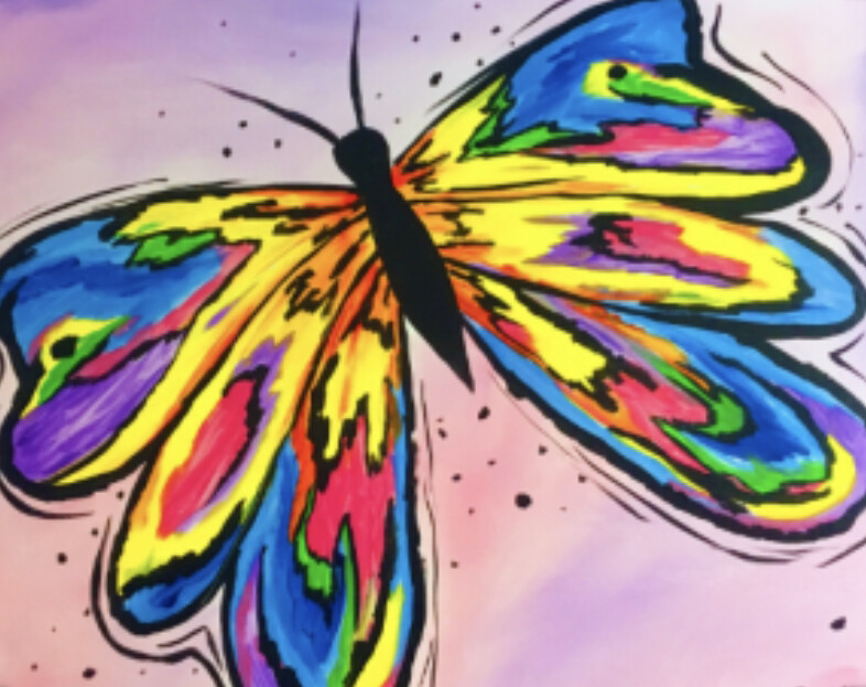 BUTTERFLY PAINT PARTY KIT