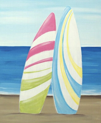 SURFBOARD PAINT PARTY KIT