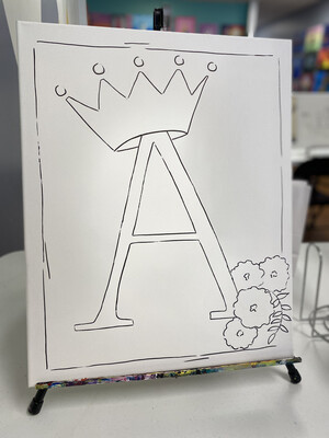 CROWNED LETTER PAINT PARTY KIT