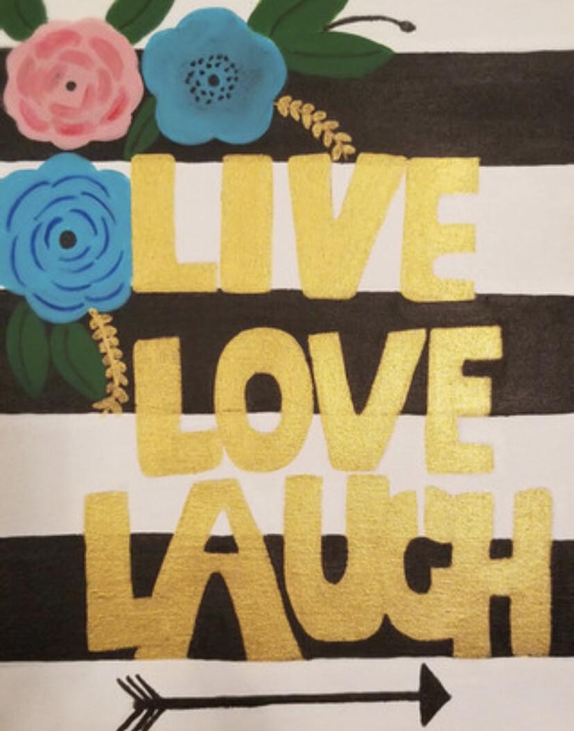 LIVE LOVE LAUGH PAINT PARTY KIT