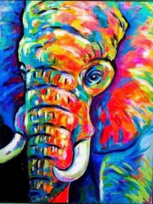 VIBRANT ELEPHANT PAINT PARTY KIT