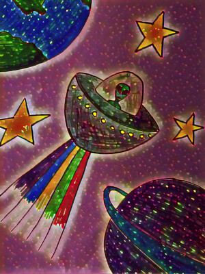 SPACE ALIEN PAINT PARTY KIT