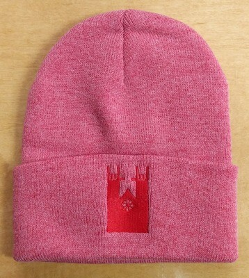 Guelph Esteem toque - Pink with red church