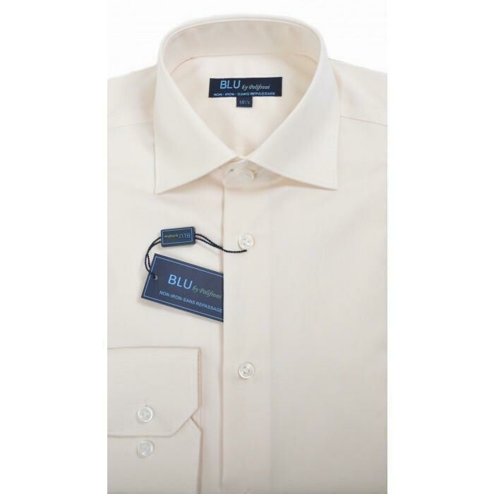 BLU by Polifroni Ecru Dress Shirt