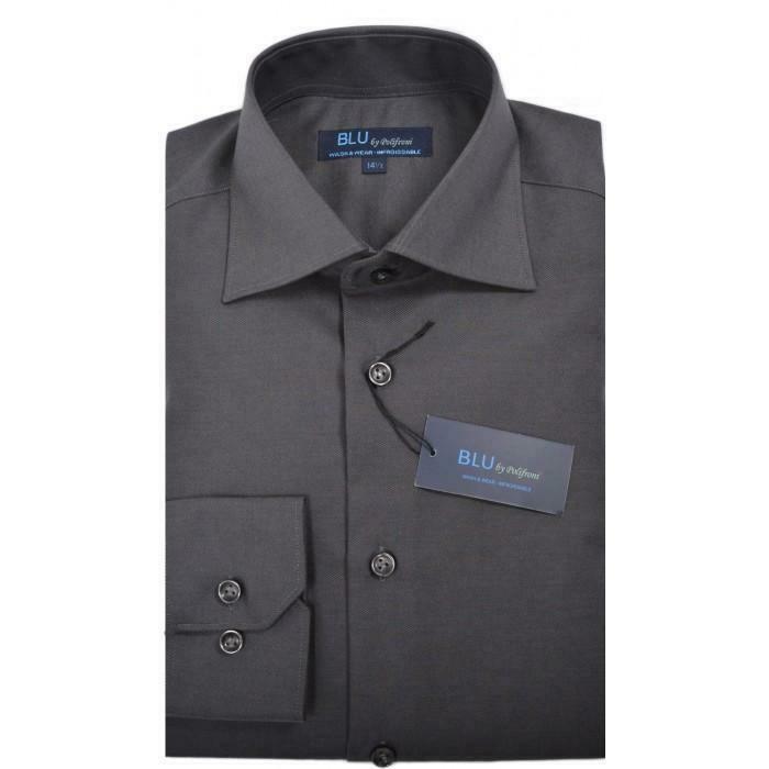 BLU by Polifroni Charcoal Dress Shirt