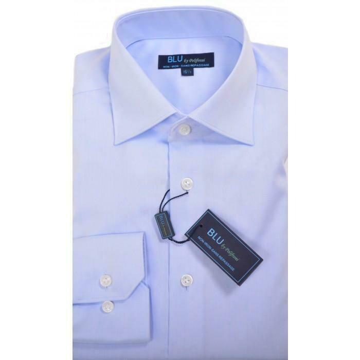 BLU by Polifroni Light Blue Dress Shirt