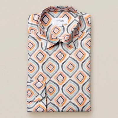 Eton Retro Geometric Print Shirt