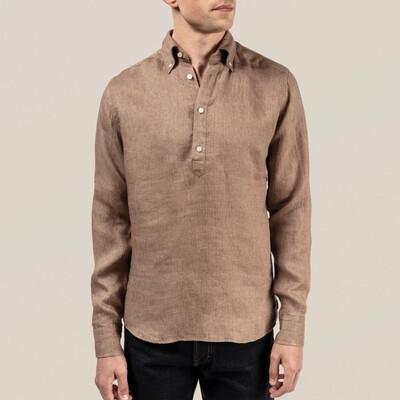 Eton Luxe Linen Popover Shirt
