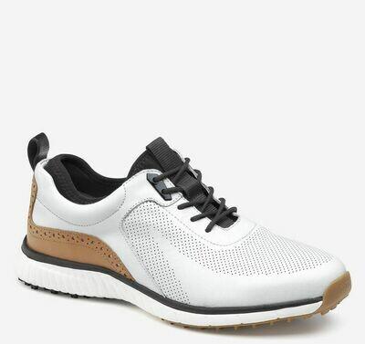 Johnston and Murphy Prentis shoe XC4 white hybrid shoe