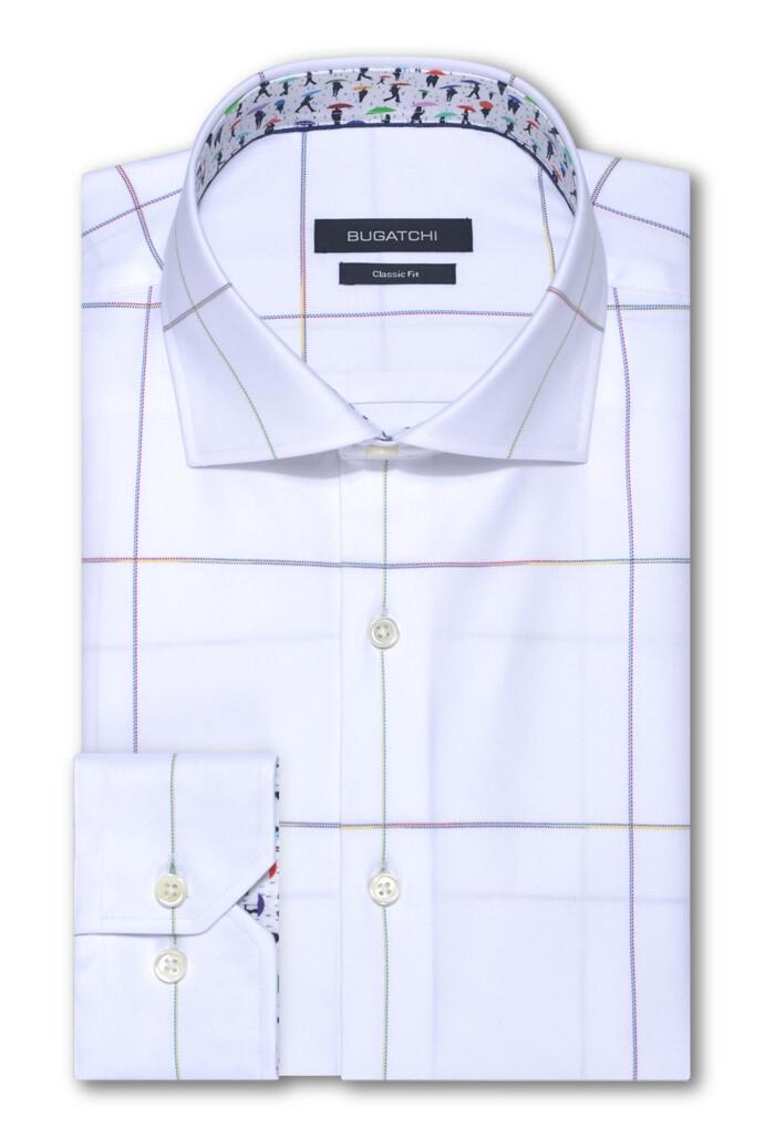 Bugatchi Multi Color Square LS Woven Shirt