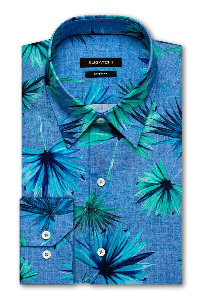 Bugatchi Palm Linen LS Shirt