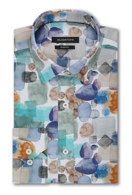 Bugatchi Watercolor Blotch LS Woven Shirt