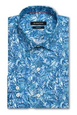 Bugatchi Blue Leaf LS Woven Shirt
