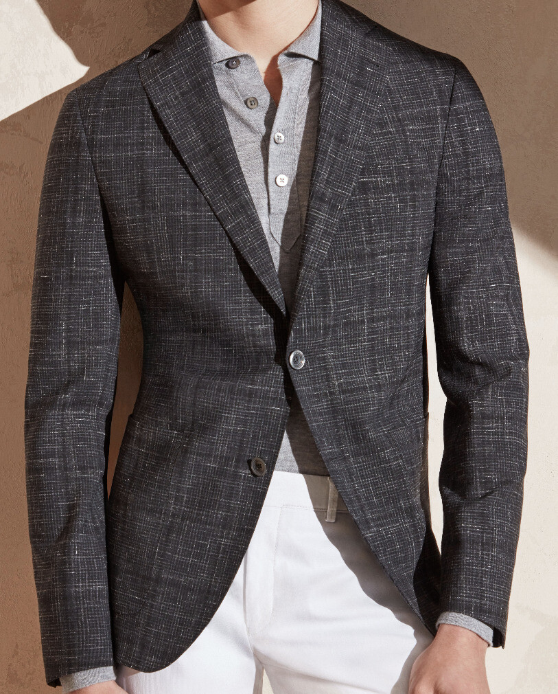 Jack Victor Inlaid Layered Check Sport Coat