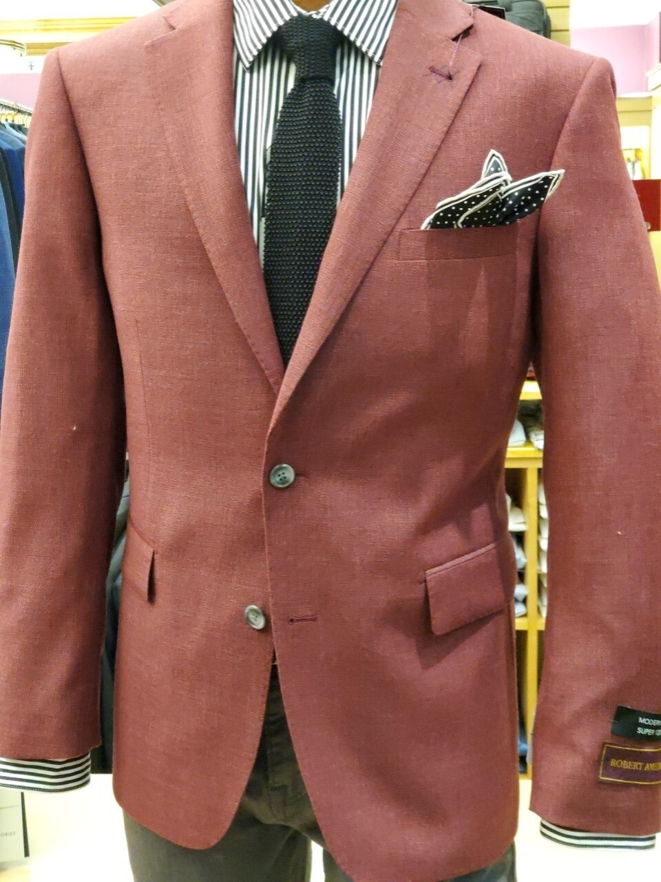 Robert Amerigo Red Wool linen blend