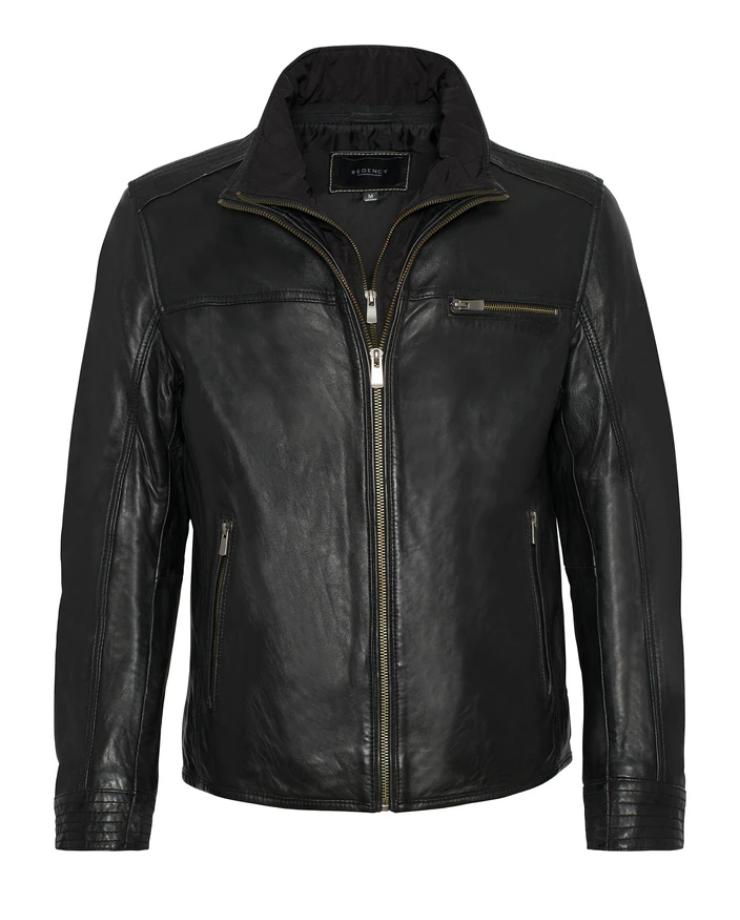 Malik Double Collar Leather Jacket
