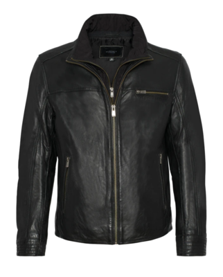 Malik Double Collar Leather Jacket