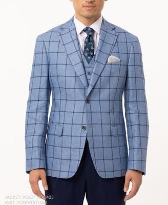 TALLIA Blue Windowpane Sport Coat